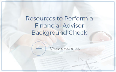 Resources to Perform a Financial Advisor Background Check